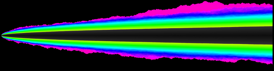 Bernoulli walk probability density map colors 3
